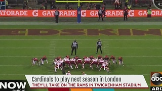 Cardinals taking on Rams in London - Video