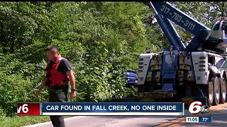 Blue Camaro found in Fall Creek Sunday morning - Video