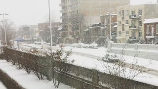 Snow Storm Blankets Montreal