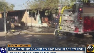 Family's gifts destroyed in mobile home fire - Video