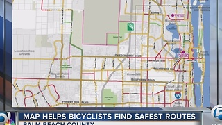 Map helping Palm Beach County bicyclists find safest routes - Video