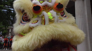 Chinese Lion Dance In Birmingham - Video