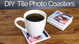 How to make tile photo coasters - Video