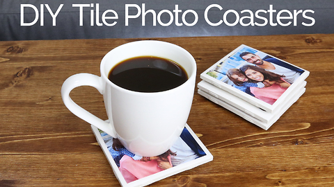 How to make tile photo coasters