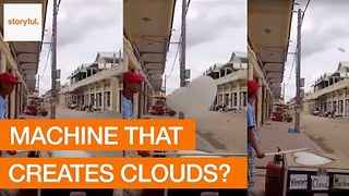 Quirky Machine Makes Heart Shaped Foam Clouds - Video
