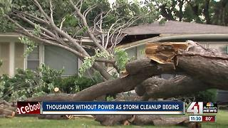 Thousands without power as storm clean up begins - Video