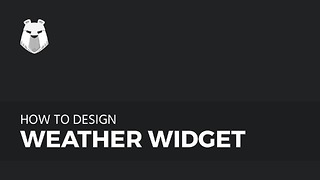 How to make Weather Widget in Adobe Photoshop - Video