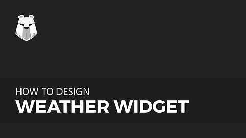 How to make Weather Widget in Adobe Photoshop