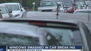 Thieves smash car windows on east side block after Thanksgiving