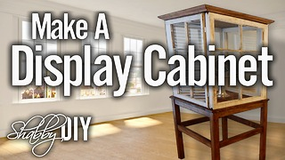 How to make a display cabinet using old wooden windows - Video