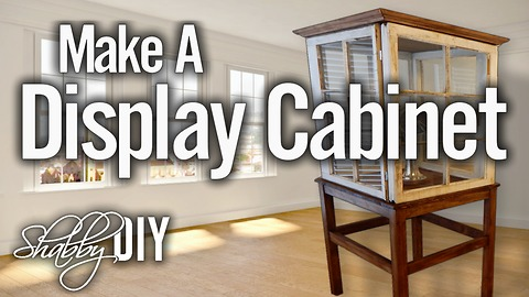 How to make a display cabinet using old wooden windows