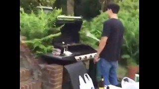 Man Lands Epic Burger Flip - Video