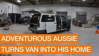 Adventurous Aussie Turns Van Into His Home - Video