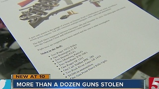 13 Guns Stolen From Murfreesboro Home - Video