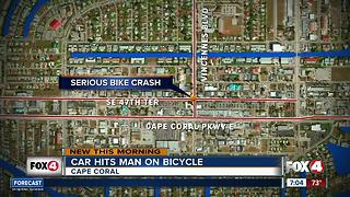 Bicyclist hit by car - Video
