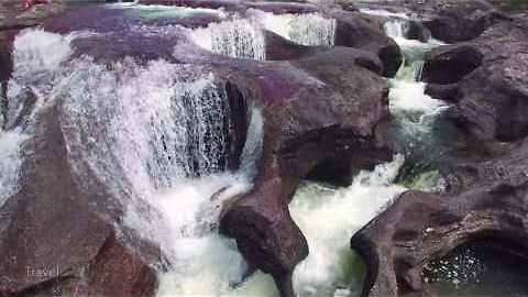 Amazing drone footage of Caño Cristales, Colombia