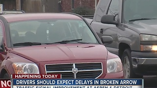 Drivers Should Expect Delays In Broken Arrow - Video