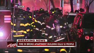 Massive NYC fire claims 12 lives - Video