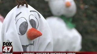 Jaycee's Snowman Army raises money in Lansing - Video