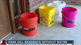 Roughly 20 Park HIll residnets without running water