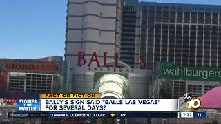 Vegas hotel changes sign to