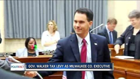 Politifact: Gov. Walker's property tax claims