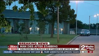 Man dead after being stabbed in South Tulsa - Video
