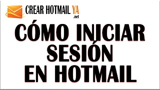 Iniciar Sesión Hotmail - Video