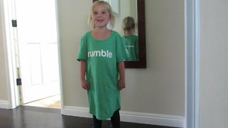 Listen to what this adorable girl has to say about Rumble - Video
