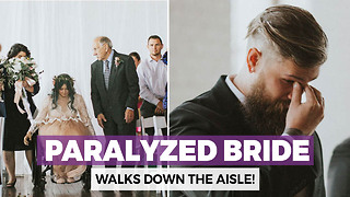 Her Parents Wheeled His Paralyzed Bride To The Aisle. Her Next Move Has Her Groom In Tears - Video