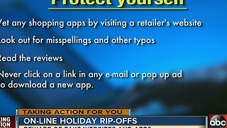 Fake websites and apps will be biggest online rip-offs this shopping season - Video