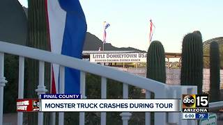 Multiple people injured after monster truck crashes in Pinal County - Video