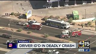 Driver identified in deadly Phoenix crash - Video