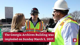 Demolition of the historic Georgia Archives Building | Rare News - Video