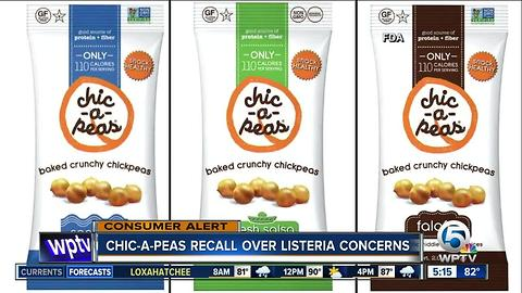 Chic-a-Peas recalls products for listeria concerns