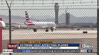 Extreme heat impacts takeoffs at McCarran - Video