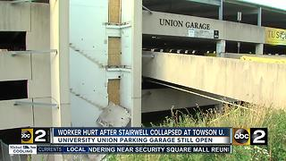 Worker injured at Towson parking garage - Video