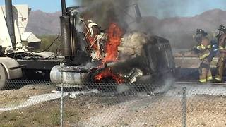 RAW VIDEO: Vehicle fire on I-10 - Video