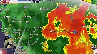 Breaking Weather Alert: Rain Arrives in San Diego County - Video