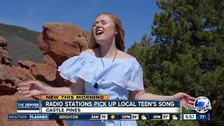 Radio stations pick up local teen's song