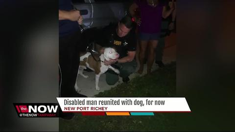 Dog reunited with mentally disabled man
