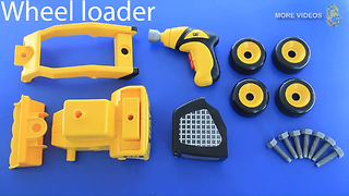 CAT Take-Apart Wheel Loader - Play and Learn how to use Power Screwdriver for Kid - Video