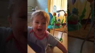 Little Toddler Belts Out a Mighty Roar - Video
