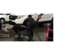 Philadelphia Police Officer Beats Teen During Brawl - Video