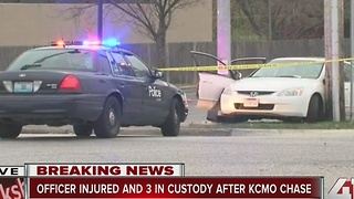 Officer injured and 3 in custody after KCMO chase - Video