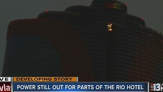 Power remains out at Rio hotel-casino tower - Video