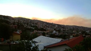 Timelapse Video Captures Smoke Rising From Valparaiso Wildfire - Video