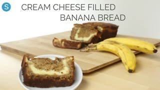 Cream cheese-filled banana bread - Video