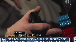 Search for missing plane suspended
