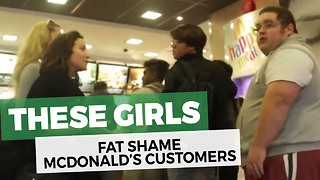 Woman Who Harasses Overweight Man For Eating At McDonald's Gets Instant Dose Of Karma - Video